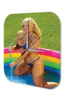 Sexy Girl Wall Clock Blonde pool Printed Acryl Plexiglass