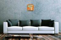 Wall Clock Nostalgic Decoration orange juice Acryl...