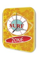 Fun Wall Clock Vintage Decor Surf Zone Acryl Plexiglass