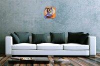 Wall Clock Nostalgic Decoration Taurus Acryl Plexiglass