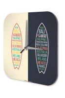 Wall Clock Holiday Travel Agency Bali Hawaii Plexiglass
