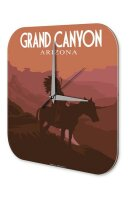 Wall Clock Holiday Travel Agency Grand Canyon Acrylglass