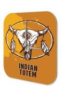 Nostalgic Wall Clock Western Style Indian Totem Plexiglass