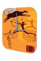 Wall Clock USA Native Warrior Printed Acryl Plexiglass