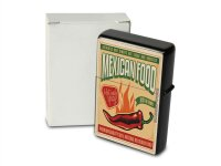 Pocket Windproof Lighter Brushed Oil Refillable Mexican Food
