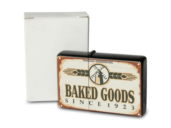 Pocket Windproof Lighter Brushed Oil Refillable Pastries