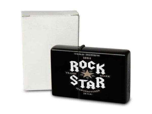 Pocket Windproof Lighter Brushed Oil Refillable Rock Star