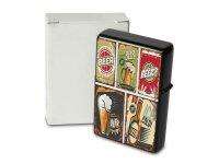 Pocket Windproof Lighter Brushed Oil Refillable Beer