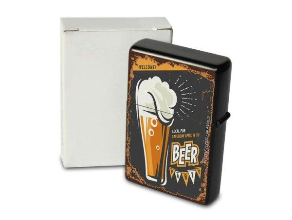 Pocket Windproof Lighter Brushed Oil Refillable Beer party
