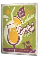 Tin Sign XXL Bar Party Pina colada