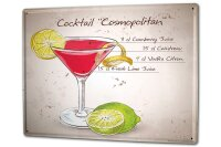 Tin Sign XXL Bar Party Cocktail cosmopolitan