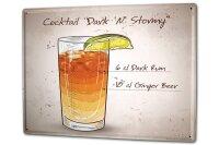Tin Sign XXL Bar Party Cocktail dark n stormy