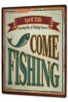 Tin Sign XXL Pisces Angel Fish fishing season FishermanS...