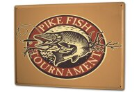 Tin Sign XXL Coastal Marine Pike Fish
