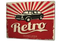 Tin Sign XXL Vintage Car Retro old car