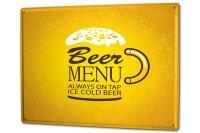 Tin Sign XXL Brewery Beer Kitchen Beer menu cold