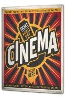 Tin Sign XXL Fun Ravtive Cinema tickets