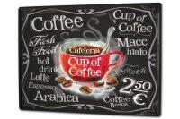Tin Sign XXL Coffee Cafe Bar cup of coffee