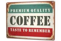 Tin Sign XXL Coffee Cafe Bar Coffee