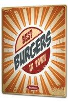 Tin Sign XXL Kitchen Best burgers in town