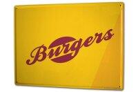 Tin Sign XXL Kitchen Burgers