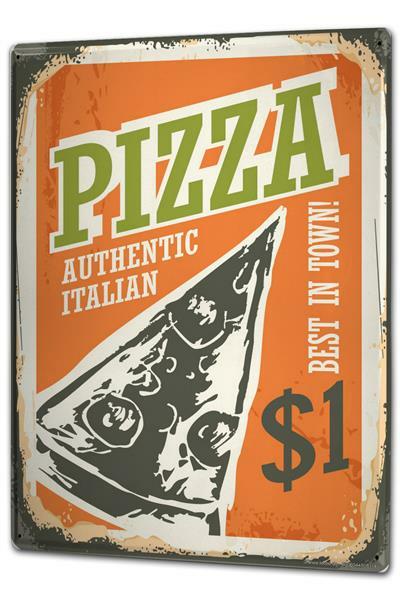 Blechschild Nostalgie Fun Pizza