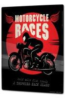 Tin Sign XXL Nostalgic Motorcycle Races