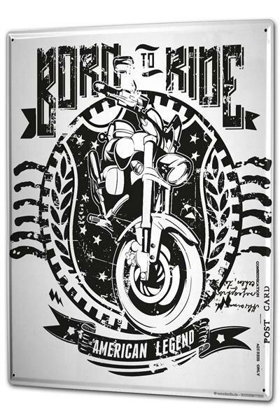 Tin Sign XXL Motorcycle Garage Born to Ride