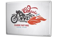 Tin Sign XXL Motorcycle Garage Classic Bike