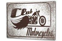 Tin Sign XXL Nostalgic Motorcycle Club
