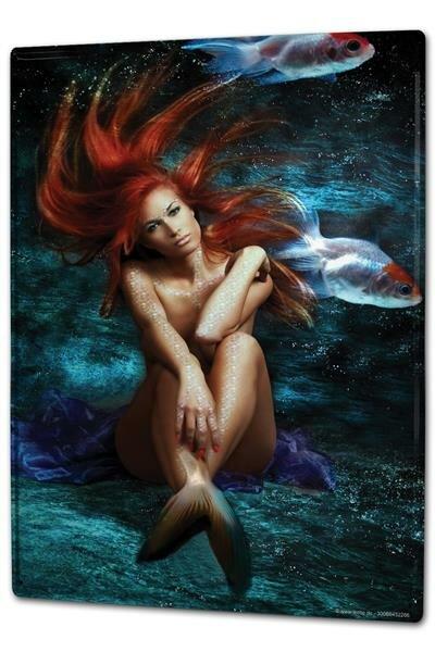Blechschild XXL Pin Up Erotik Meerjungfrau