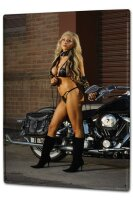 Tin Sign XXL Bar Restaurant hot girl motorcycle