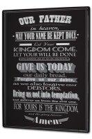 Blechschild XXL Kirche Vater unser