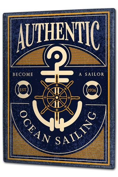 Blechschild XXL Weltmeere Ozean segeln