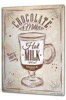 Tin Sign XXL Nostalgic Hot chocolate