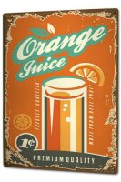 Tin Sign XXL Nostalgic orange juice