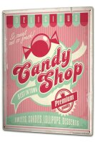 Blechschild XXL Nostalgie Candy Shop