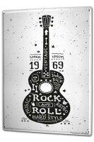 Blechschild XXL Fun Rock and roll