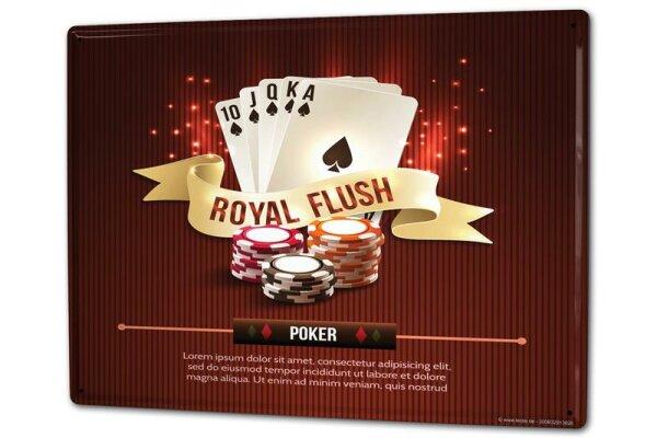 Blechschild XXL Fun Poker