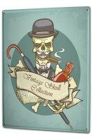 Blechschild XXL Retro Vintage Skull