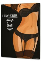 Tin Sign XXL Retro Womens lingerie