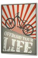 Tin Sign XXL Nostalgic Bike offroad