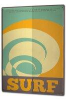 Blechschild XXL Sport Surfing