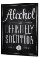 Tin Sign XXL Fun Alcohol solution