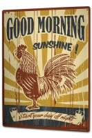 Tin Sign XXL Fun Good morning cock