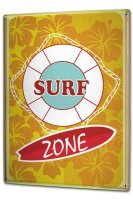 Tin Sign XXL Fun Surf Zone