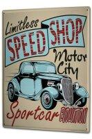 Tin Sign XXL Holiday Travel Agency Motor City