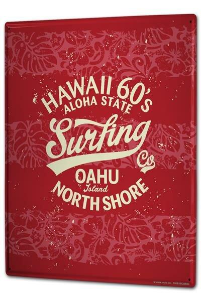 Blechschild XXL Urlaub Reisebüro Oahu