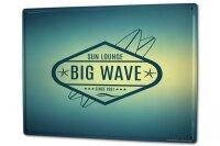 Tin Sign XXL Holiday Travel Agency Big Wave