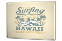 Tin Sign XXL Tractor Tugs Hawaii surfing